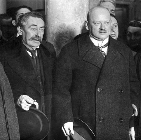 Photo of Aristide Briand and Gustav Stresemann from the year 1926