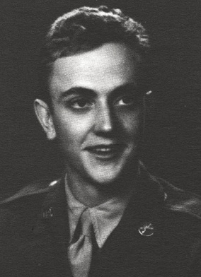 Black-and-white photograph of Kurt Vonnegut in uniform