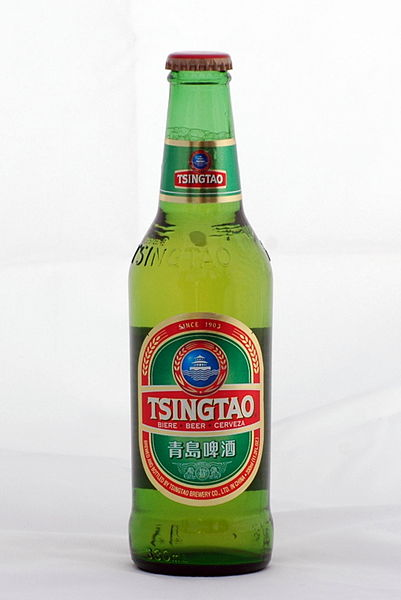 A bottle of Tsingtao beer