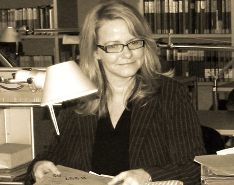Andrea Bentschneider in an archive
