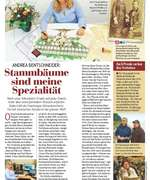 Article in the German magazine BILD der FRAU on Andrea Bentschneider, genealogy and Beyond History